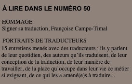 Translitterature - Sommaire